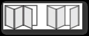 3 PANEL BI FOLD DOORS